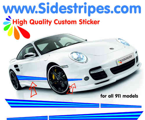 Martini Racing side stripe decal sticker set for all PORSCHE 911 Models Art.N°: 6002