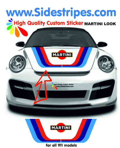 Martini Racing hood bonnet decal sticker set for all PORSCHE 911 Models Art.N°: 6012