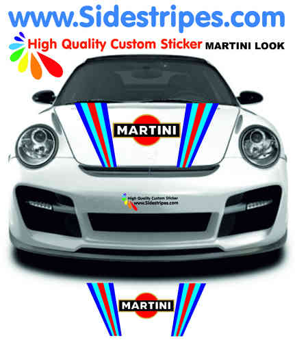 Martini Racing hood bonnet decal sticker set for all PORSCHE 911 Models Art.N°: 6013