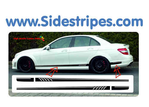 Mercedes Benz C63 Limosine AMG 507 replika side stripe sticker decal  complete set - N° 5046