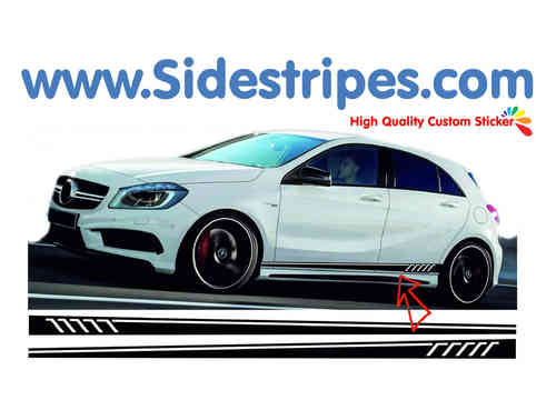 Mercedes Benz A class AMG 507 replica side stripe sticker decal complete set - N° 7067