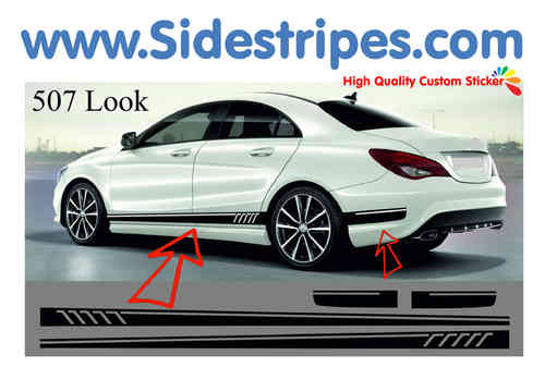 Mercedes Benz CLA AMG - 507 replica side stripe sticker decal complete set - N° 7068