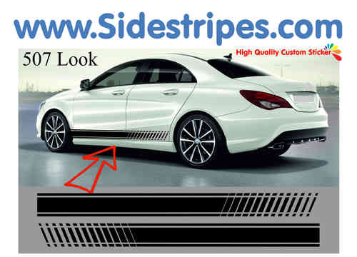 Mercedes Benz CLA AMG - EVO side stripe sticker decal  complete set - N° 7089