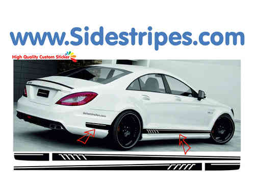Mercedes Benz CLS AMG - 507 replica side stripe sticker decal complete set - N° 7776