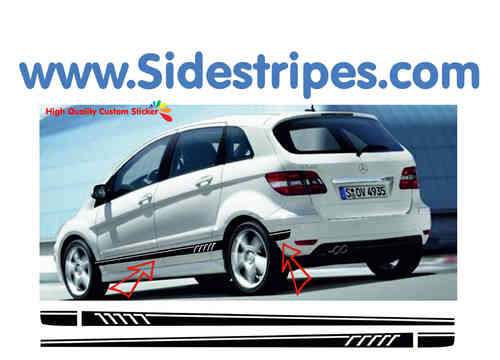 Mercedes Benz B class - 507 replica side stripe sticker decal complete set - N° 7095