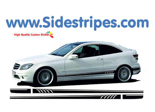 Mercedes-Benz CL 203 & CLC - 507 replica side stripe sticker decal complete set - N° 7868