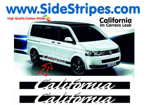 VW Bus T4  T5 California como Porsche Carrera side stripe sticker decal complete set - N° 5099