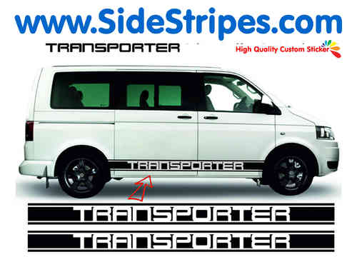 VW Bus T4 T5 Transporter XL side stripe sticker decal complete set - N° 5115