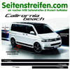 VW Bus T4 T5 California Beach Seitenstreifen Aufkleber Komplett Set edition Look - Art.Nr.: 6708