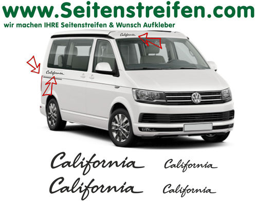 VW T6 California 4 Sticker - side stripe sticker decal complete set edition look - N° 6683