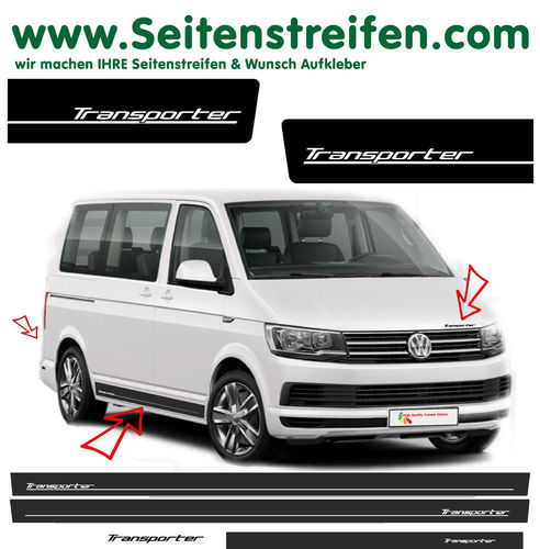 VW T6 Transporter Edition - side stripe sticker decal  complete set edition look - N° 5420