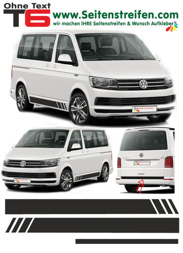 VW BUS T6 Edition without Text - side stripe sticker decal complete set- N° 5369