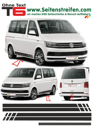 VW BUS T6 Edition without Text - side stripe sticker decal complete set- N° 5378