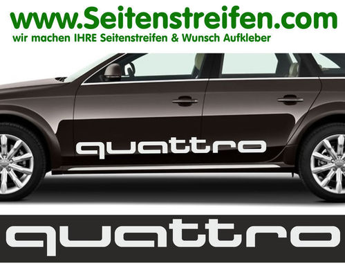 Audi A3 Quattro Set - side stripe sticker decal complete set - N° 5168