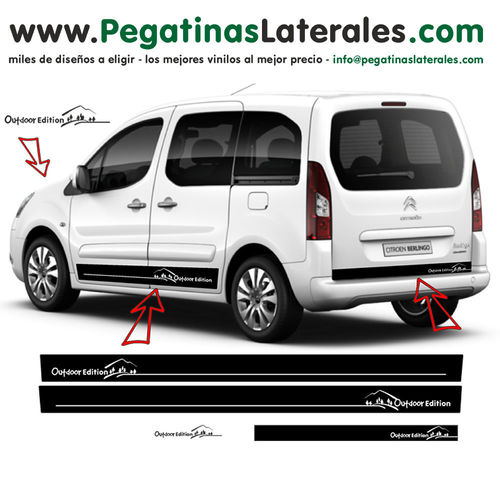 Citroen Berlingo Outdoor Edition - side stripe sticker decal complete set - N° 7252