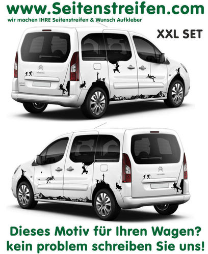 Citroen Berlingo Mountain Panorama XXL - side stripe sticker decal complete set - N° 7256