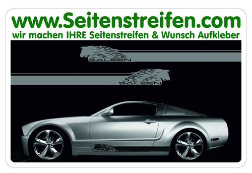 Ford Mustang SALEEN - side stripe sticker decal complete set  - N° 5048