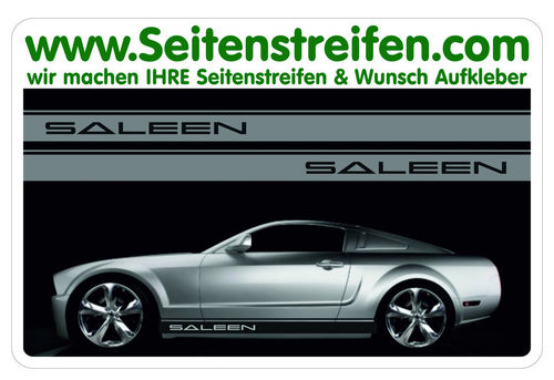 Ford Mustang SALEEN Seitenstreifen Aufkleber Set Version Art. Nr.: 5049
