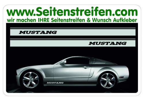 Ford Mustang - side stripe sticker decal complete set  - N° 5051