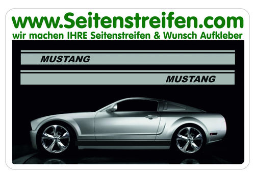 Ford Mustang - side stripe sticker decal complete set  - N° 5053