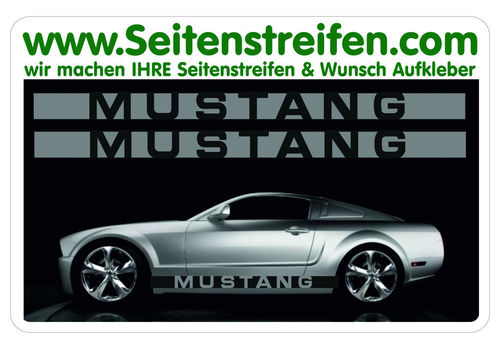 Ford Mustang - side stripe sticker decal complete set  - N° 5054