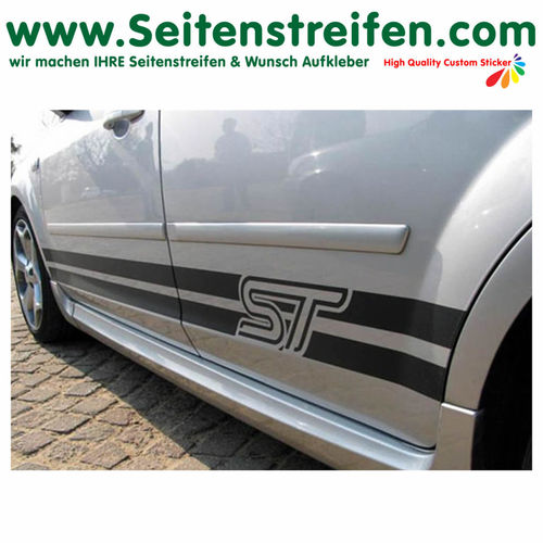 Ford Focus ST - side stripe sticker decal complete set  - N° 1055