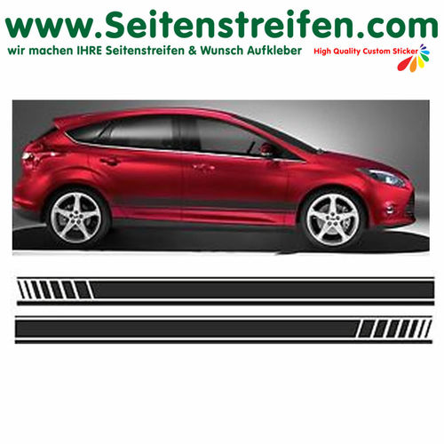 Ford Focus EVO - side stripe sticker decal complete set  - N° 1057