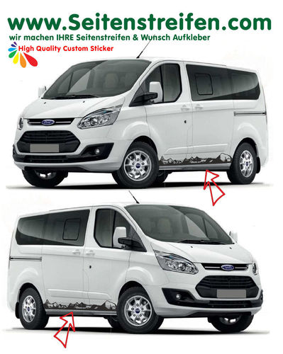 Ford Transit Custom Matterhorn Outdoor - set de pegatinas laterales set completo - N° 1165