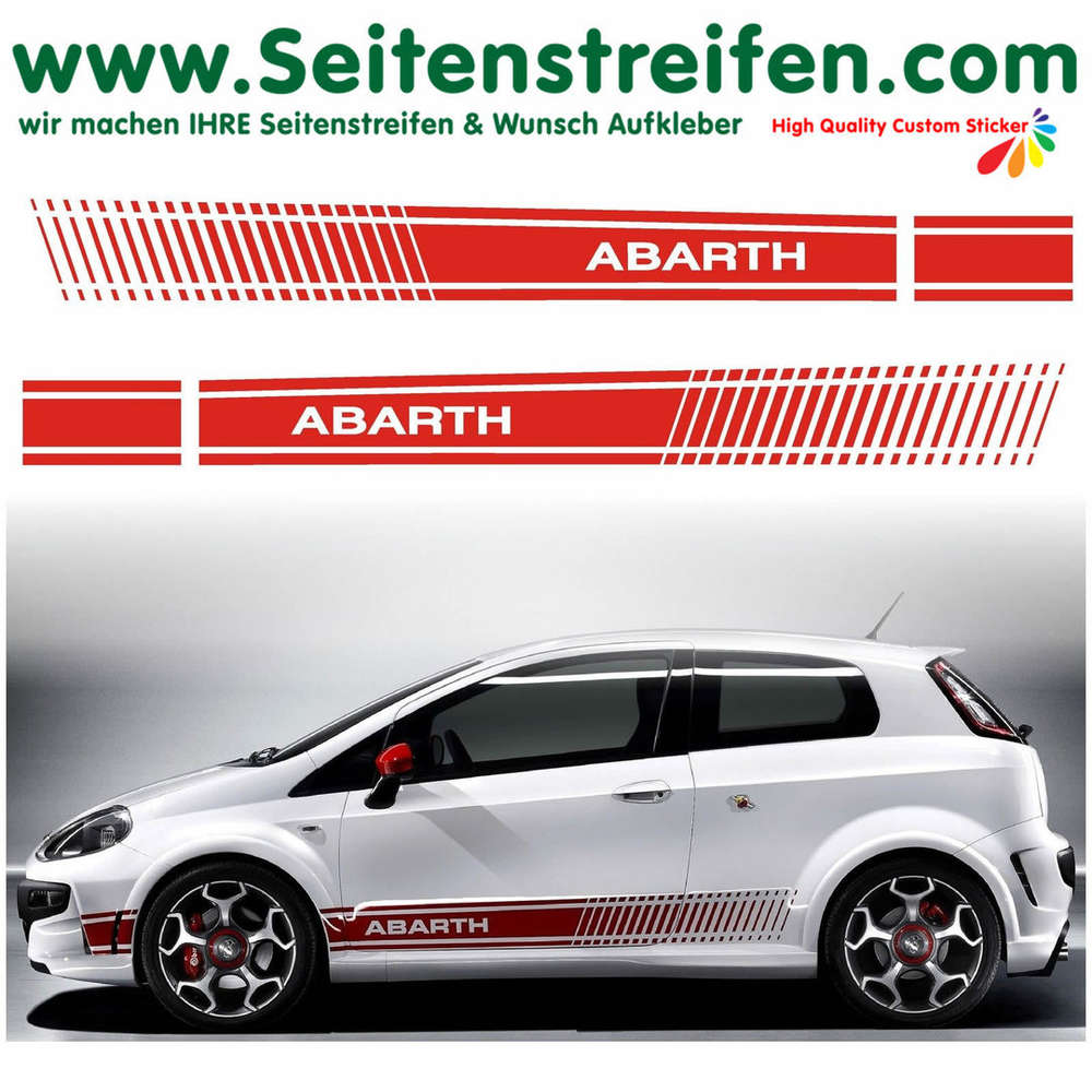 Fiat Punto Grande Punto Abarth Xl Evo Side Stripe Sticker Decal Complete Set