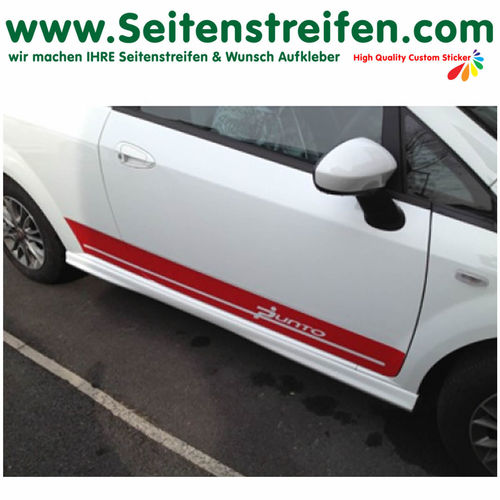 "Fiat Punto + Grande Punto ""PUNTO"" - side stripe sticker decal complete set - N° 2338"