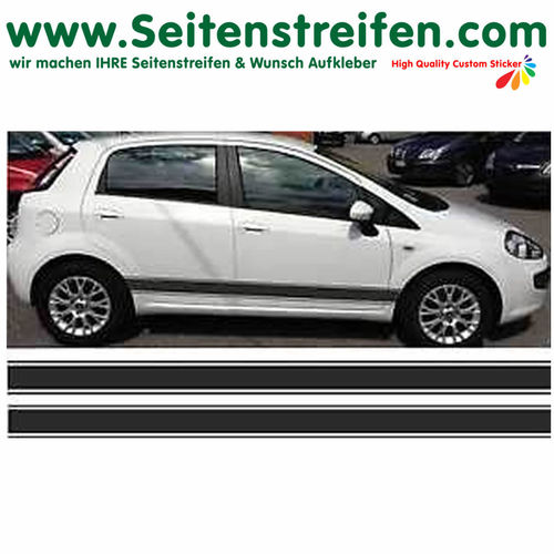 Fiat Punto + Grande Punto - side stripe sticker decal complete set - N° 2339
