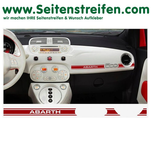 Fiat 500 Abarth Dashboard-Sticker - set de pegatinas laterales set completo - N° 7894