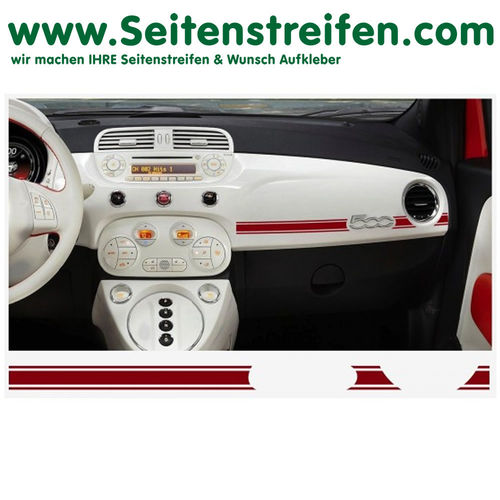 Fiat 500 Abarth Dashboard-Sticker - set de pegatinas laterales set completo - N° 7895