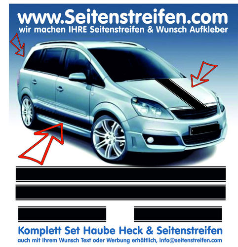 Vauxhall Zafira Version N°1 - side stripe sticker decal  complete set edition look - N° 5781