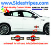 2 Martini Racing Logo - Graphics Decals Sticker Kit - the Logo are 15 cm Long - N° 8002