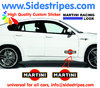 2 Martini Racing Logo - Graphics Decals Sticker Kit - the Logo are 20 cm Long - N° 8003