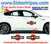 2 Martini Racing Logo - Graphics Decals Sticker Kit - the Logo are 40 cm Long - N° 8006