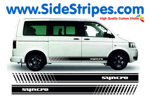 VW Bus T4 T5 SYNCRO Evo set completo de pegatinas laterales - N° 9120