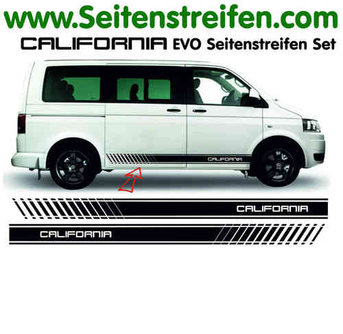 VW Bus T4 T5 California EVO decalsats, bildekaler set - N° 5105
