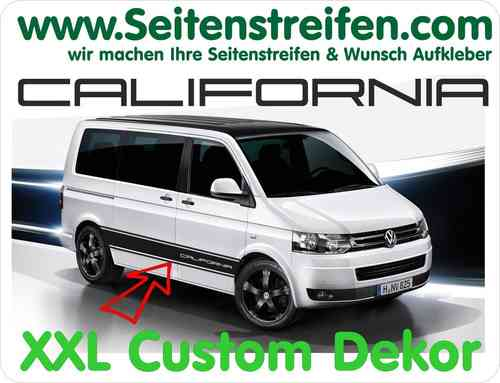 VW T4 T5 California Custom decalsats, bildekaler set - N° 5208