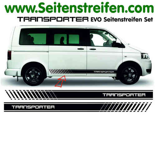 VW Bus T4 T5 Transporter EVO decalsats, bildekaler set - N° 5116