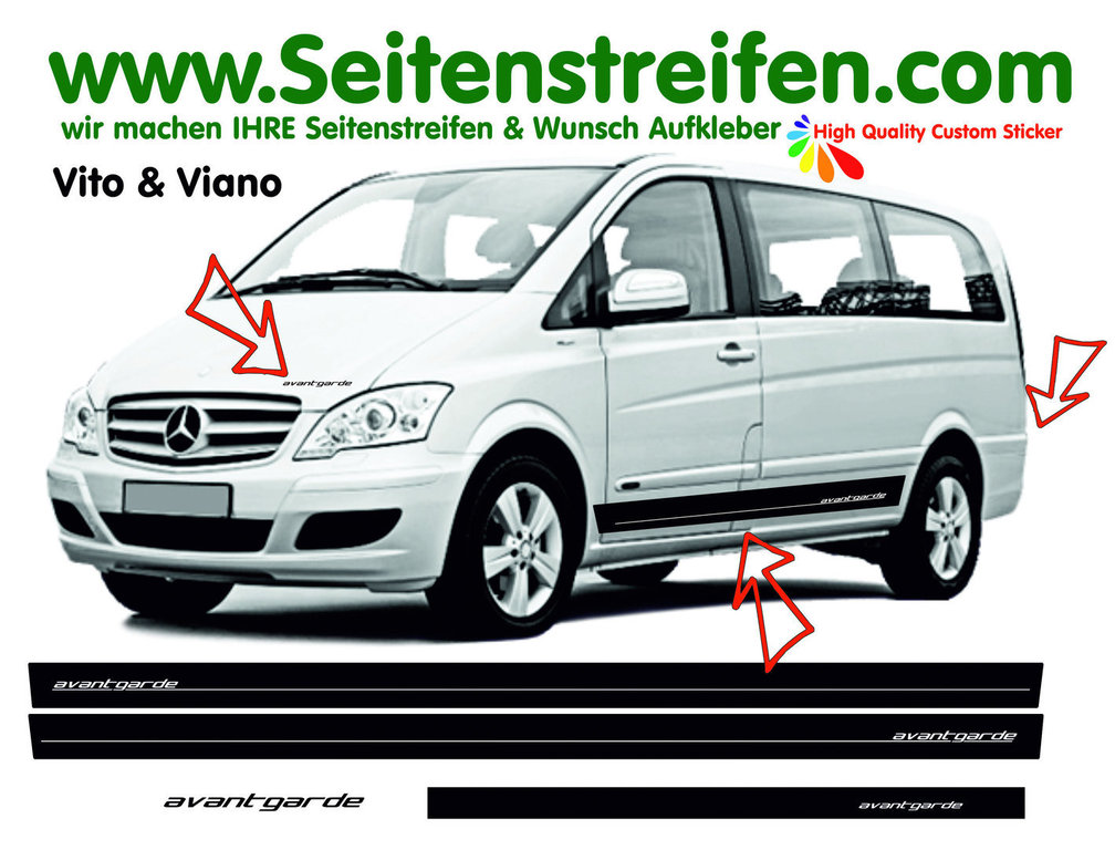 Mercedes Benz Vito & Viano AVANTGARDE édition Look - Autocollant Ensemble Complet - N° 7666