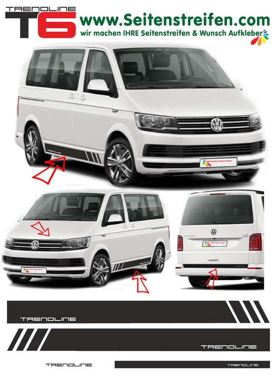 VW T6 Edition TRENDLINE  decalsats, bildekaler fullständig set edition look - N° 5409