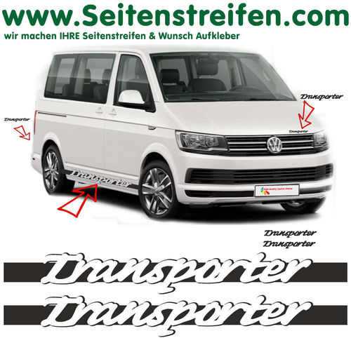 VW T6 Transporter Carrera Look - decalsats, bildekaler fullständig set edition look - N° 5421
