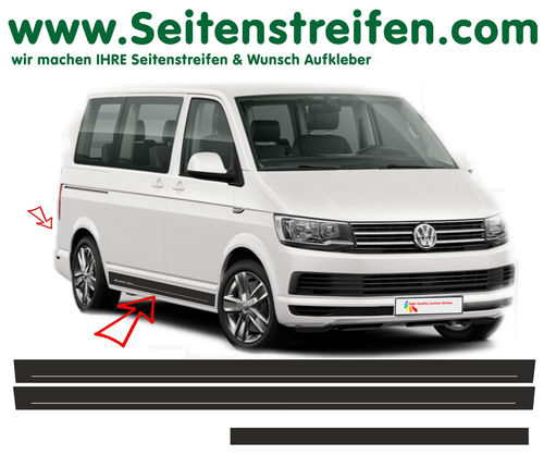 VW BUS T6 Edition - side stripe sticker decal complete set- N° 5418