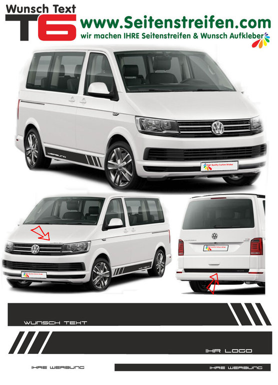 VW BUS T6 Edition - Dekor 2016 - Your Text / Your Logo - Graphics Decals Sticker Kit - N° 5384