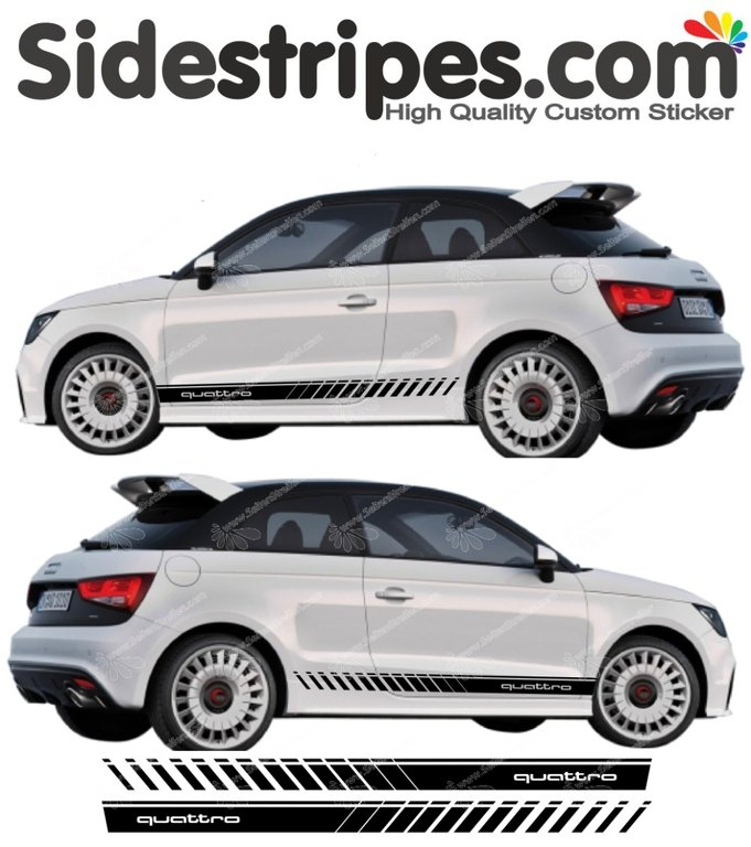 Audi A1 Quattro Evo - Side Stripes Graphics Decals Sticker Kit - N° 5160