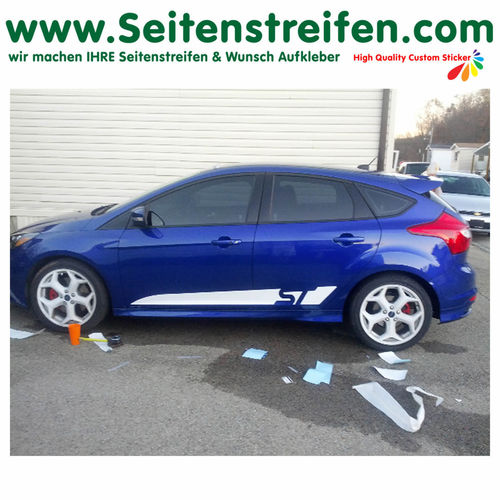 Ford Focus ST Custom - decalsats, bildekaler fullständig set edition look - N° 1056
