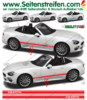 Fiat Spider ABARTH - NEW SPIDER 2016 - Side Stripes Graphics Decals Sticker Kit - N° 1975