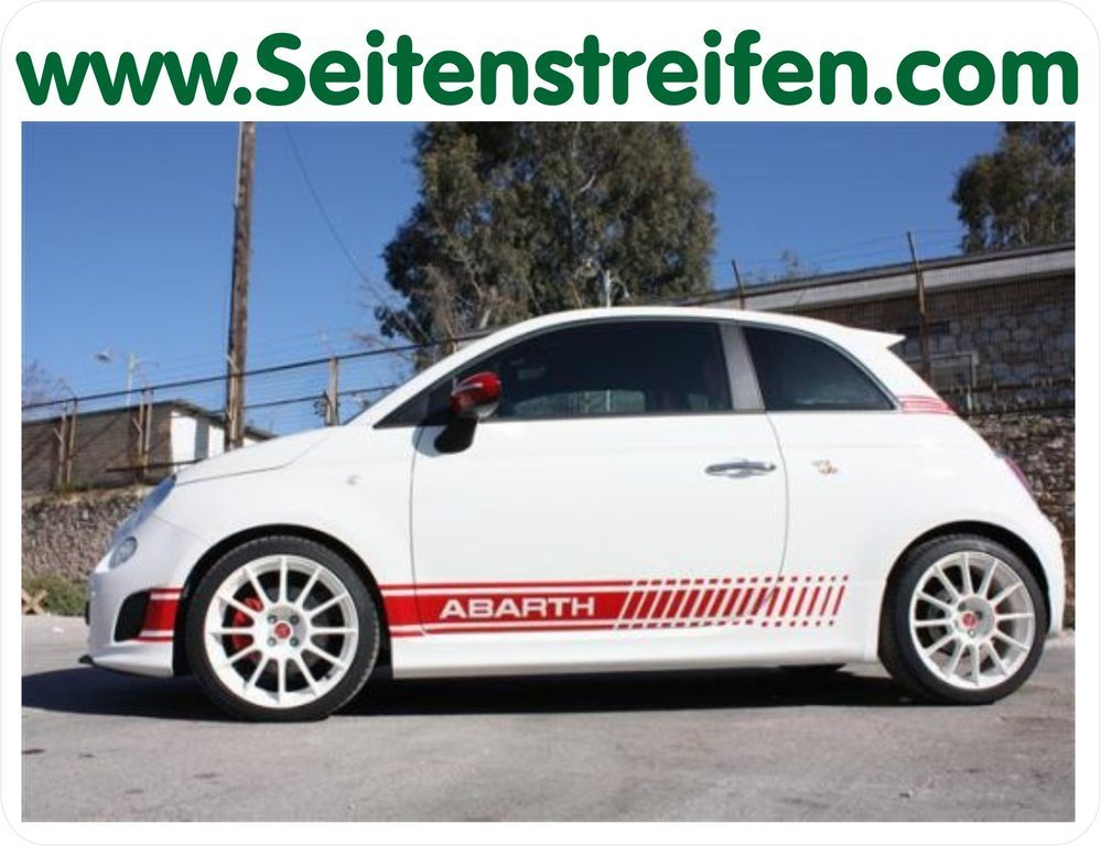 Fiat 500 Abarth EVO - Side Stripes Graphics Decals Sticker Kit - N° 5132